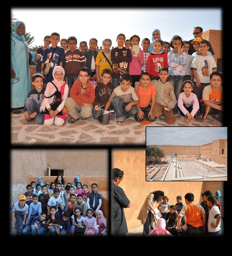 Une école en visite