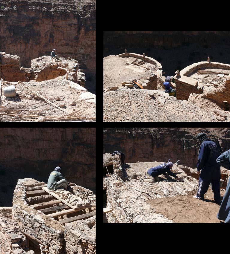 Aguellouy étapes restauration 2007