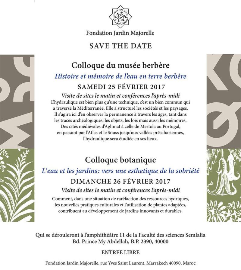 Colloque botanique et berbère